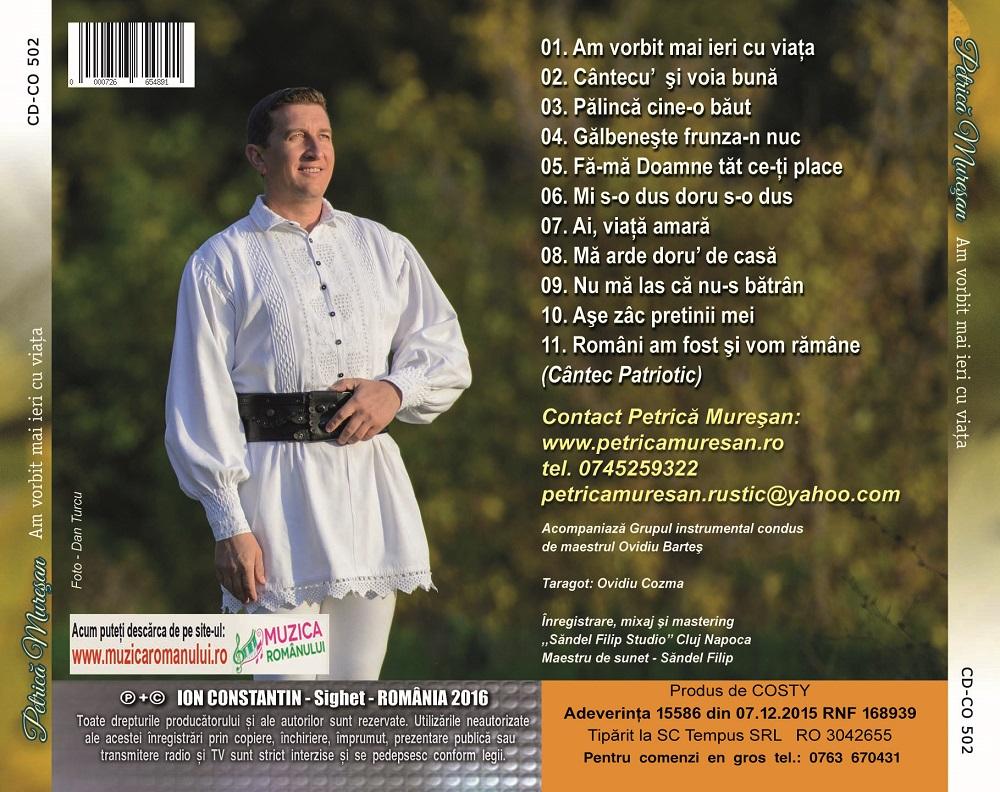 Petrica Muresan - Album 3 - Am vorbit mai ieri cu viata.